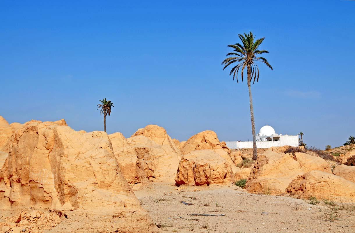 Tunisian Kebili on yksi maailman kuumimmista paikoista.