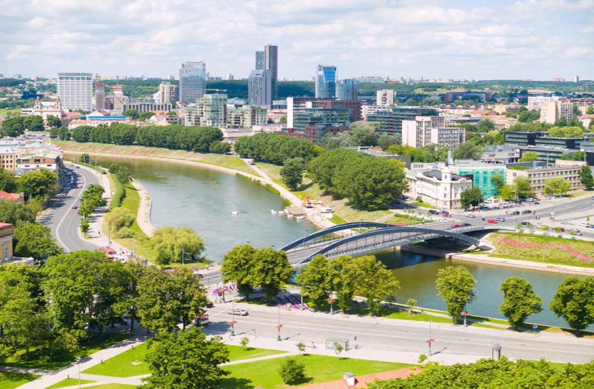Vilna on vehreä pääkaupunki.