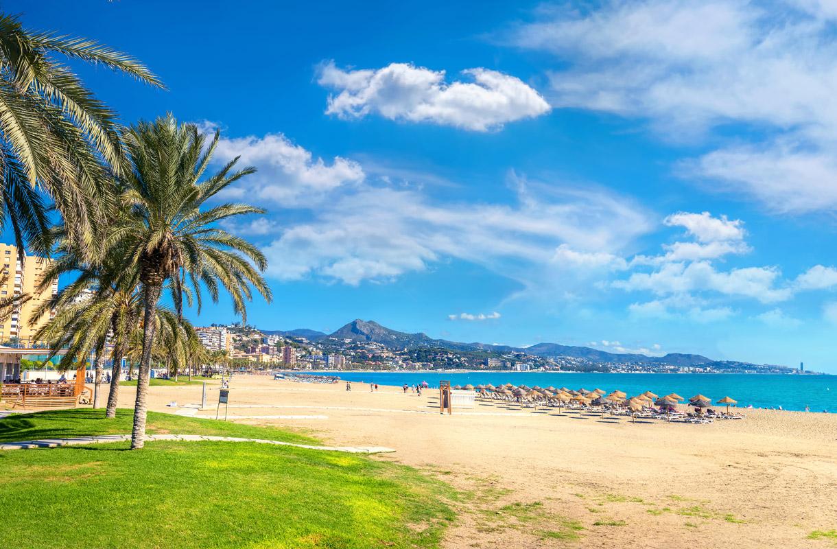 Halvat lennot Málagaan