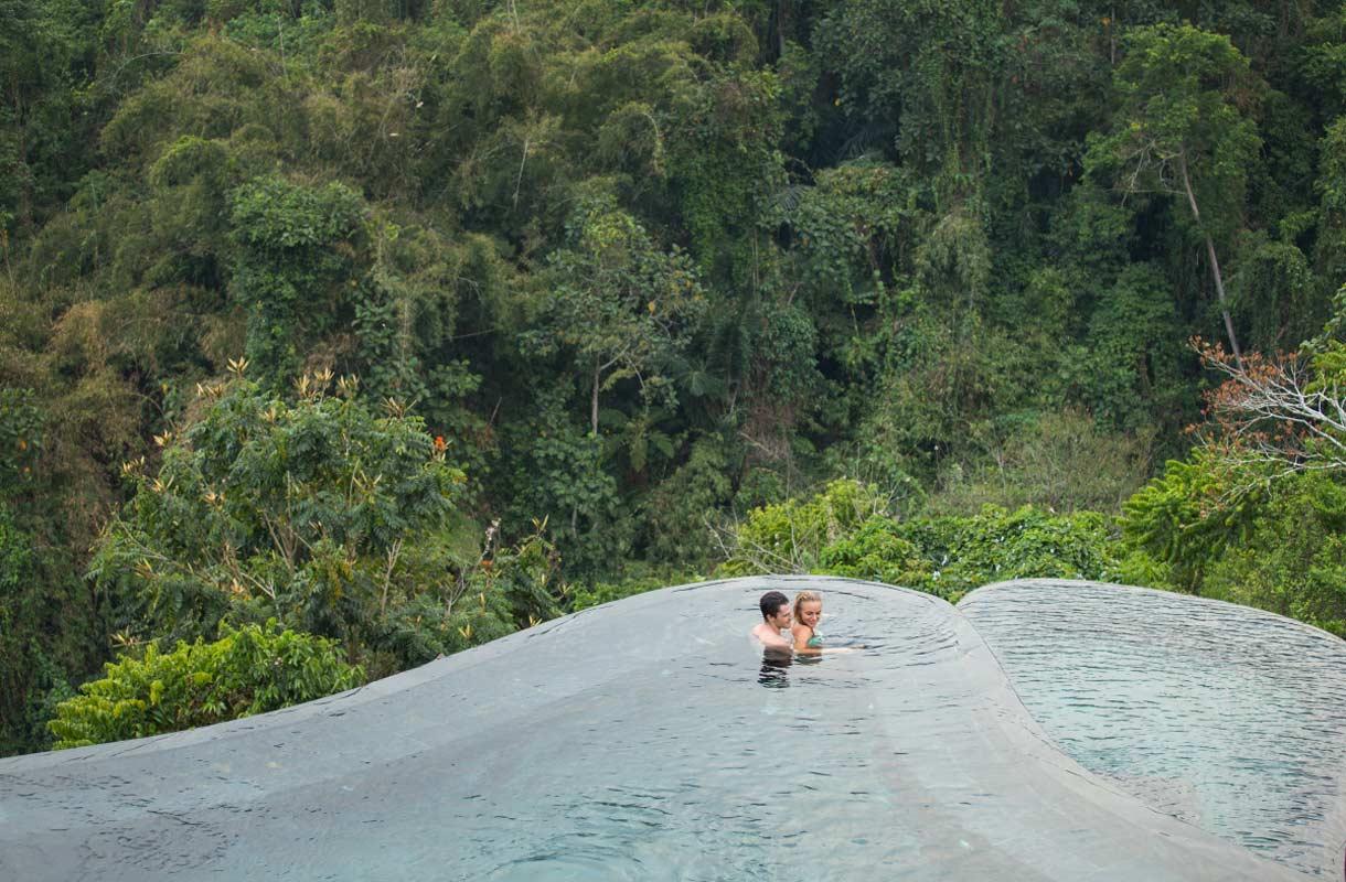 Pariskunnat suosivat Ubudin romanttisinta hotellia