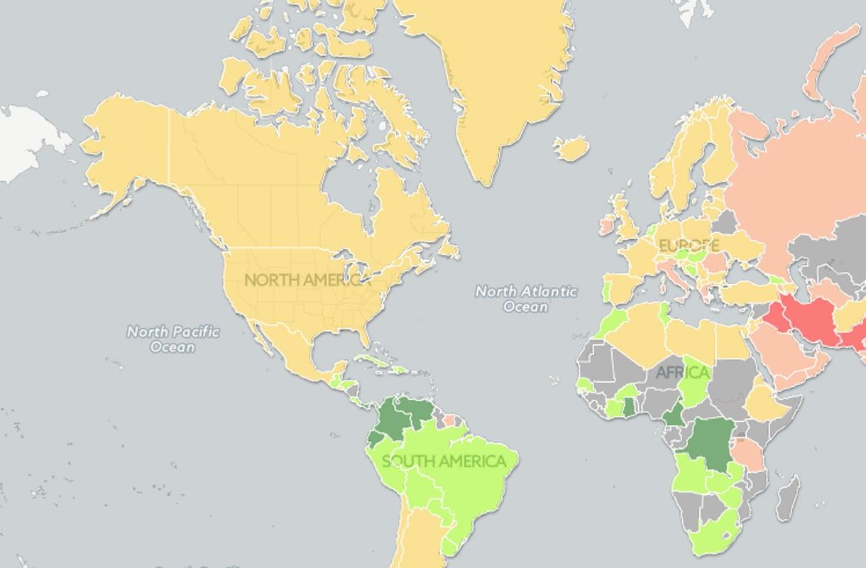 Nain Penisten Koko Vaihtelee Maailmalla Katso Kartta