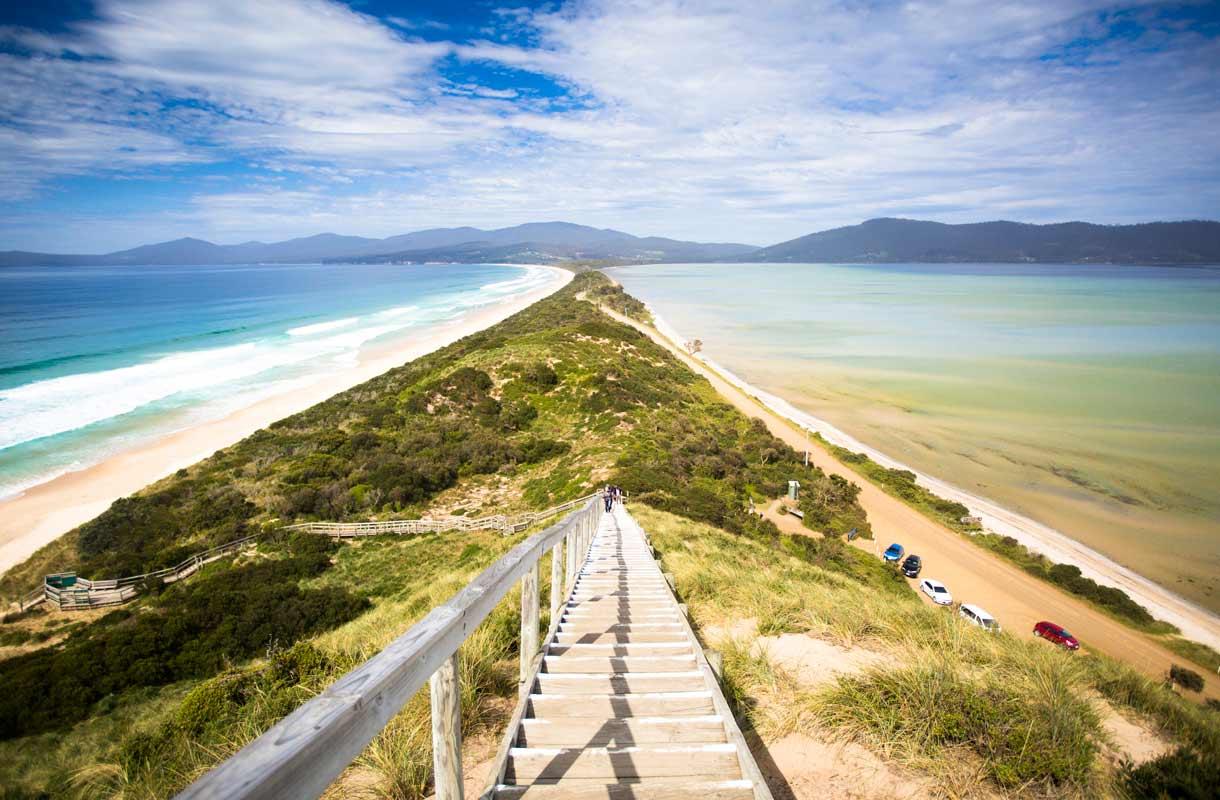 Tasmanian rannat Australiassa