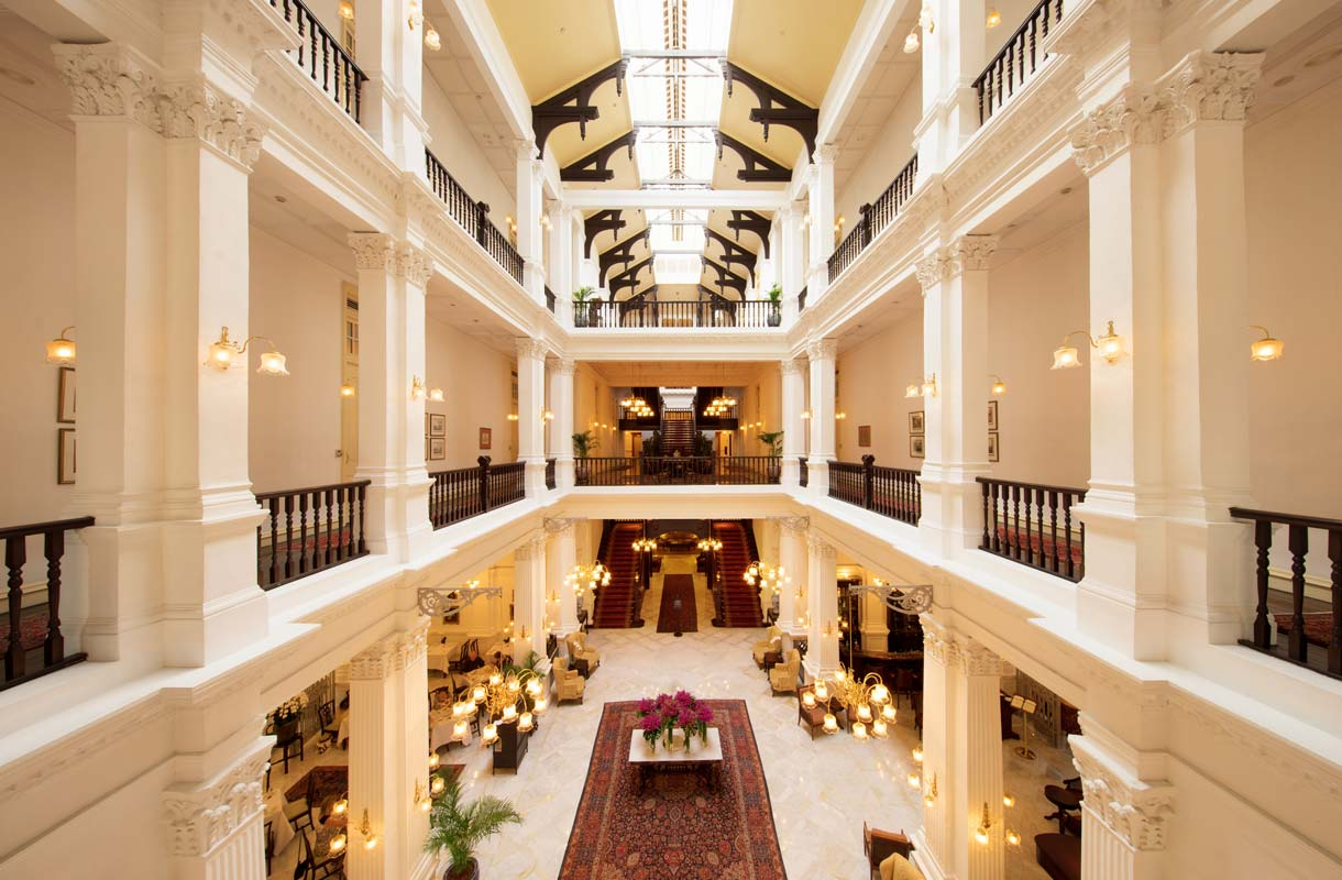 Singaporen kuuluisa Raffles Hotel