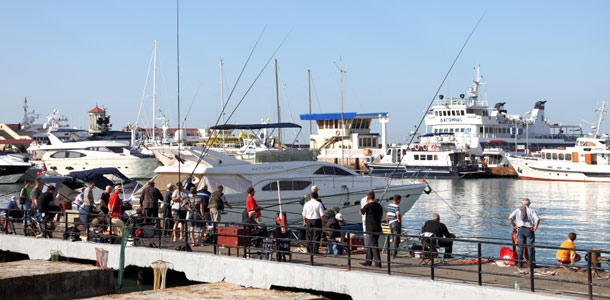 Sotshi on suosittu rantalomailijoiden keskuudessa