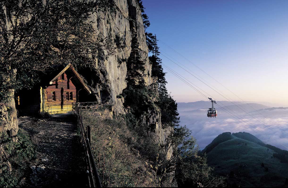 Ebenalpin köysirata Sveitsissä