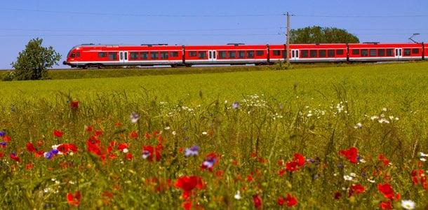 Saksan rautatieverkko kattaa koko maan