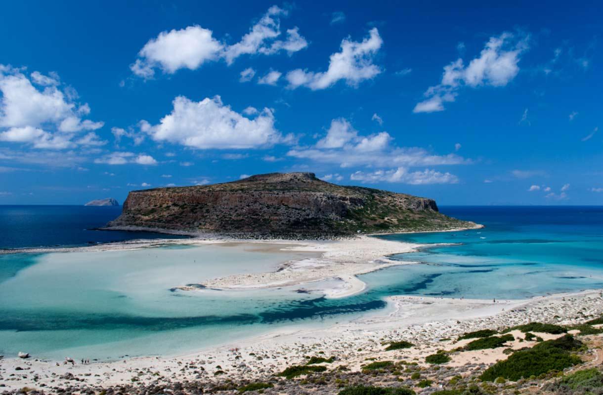 Balos on tunnettu ranta Kreetalla