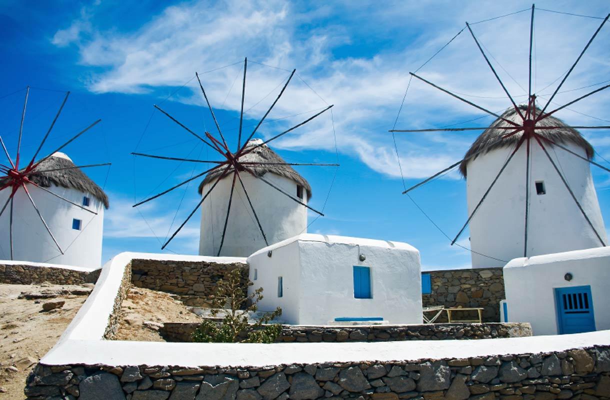 Mykonos on vapaamielinen saari Kreikassa