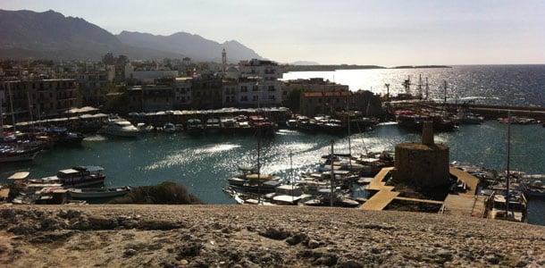 Kyrenian satama Pohjois-Kyproksella