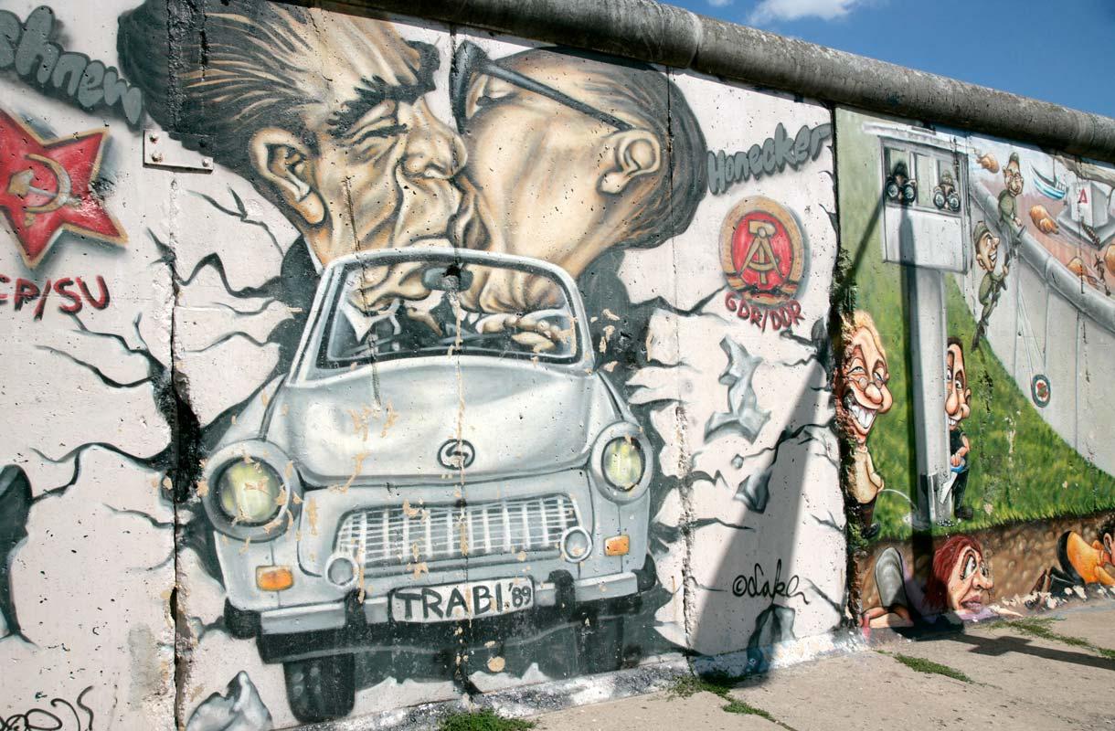 Berliinin kuuluisa East Side Gallery