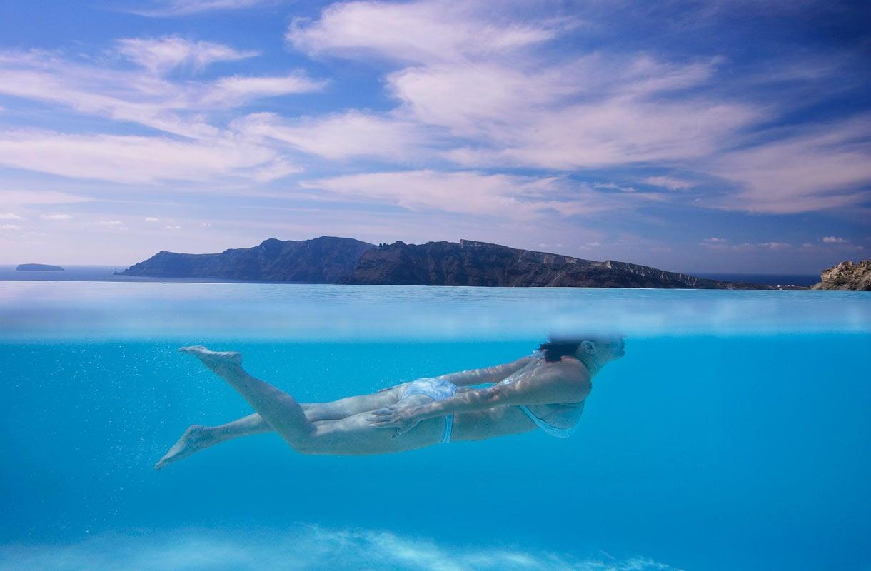Katikies-hotellin uima-allas Santorinilla