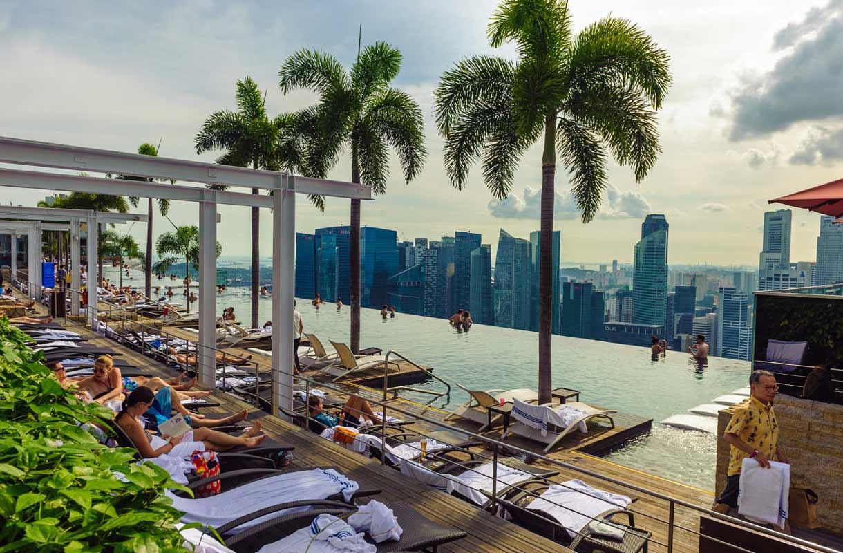 Marina Bay Sands -hotellin uima-allas