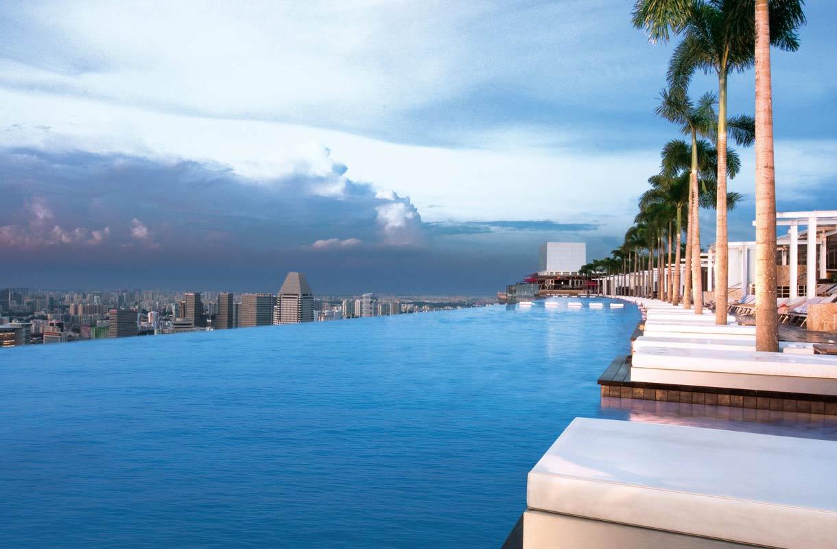 N uima altaat tarjoavat upeita maisemia katso kuvat for Singapour marina bay sands piscine