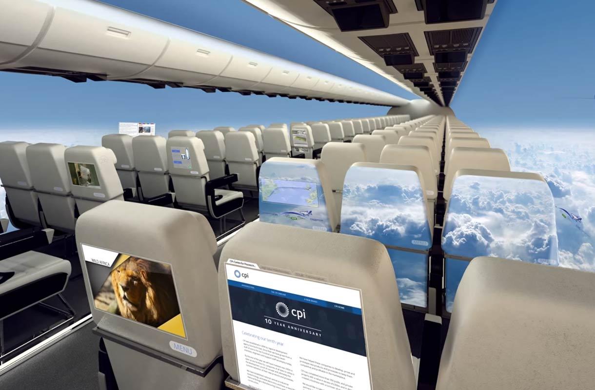 Tulevaisuuden Lentokoneessa Ei Ole Ikkunoita