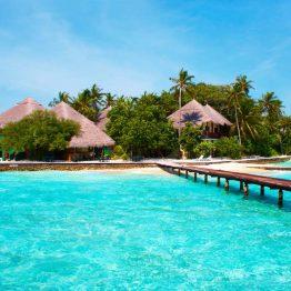 Maisema Malediiveilla