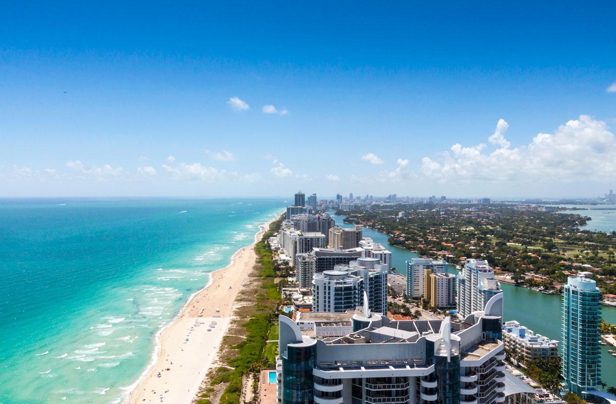 Miamissa voi yhdistää ranta- ja kaupunkiloman