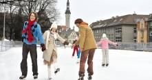 Luistelua Tallinnassa