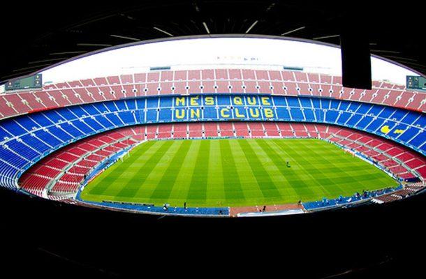 FC Barcelonan kotistadion Camp Nou on Euroopan suurin jalkapallostadion.