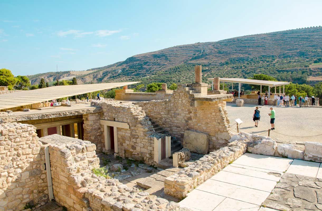 Historiallinen Knossos Kreetalla