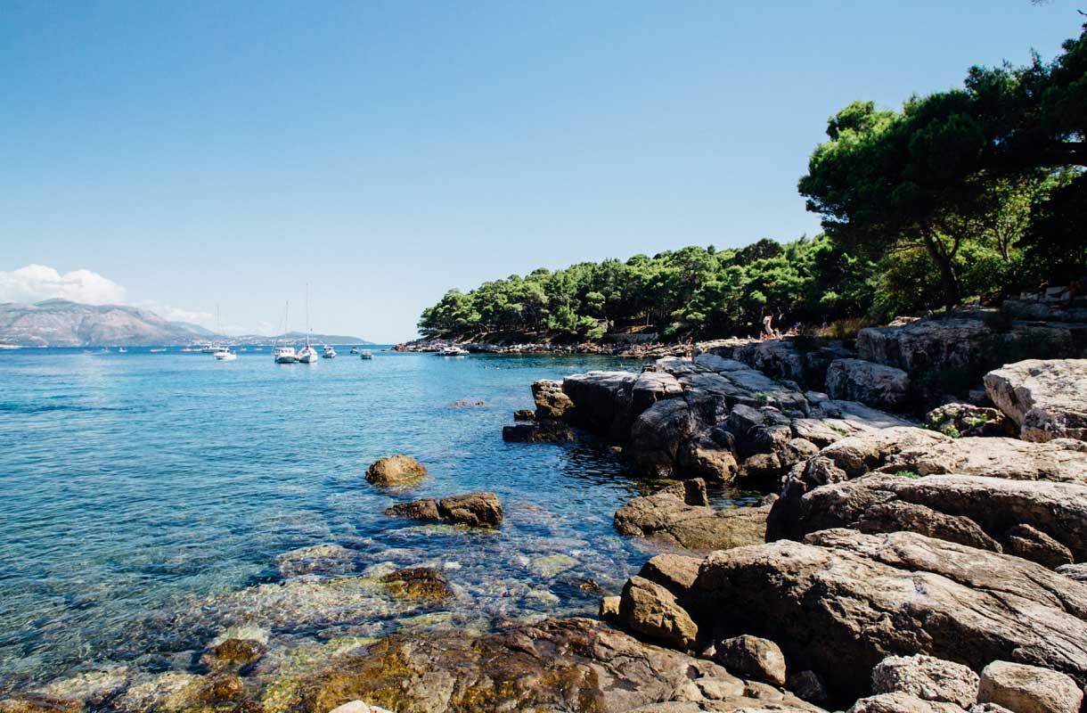 Lokrumin saari Kroatiassa
