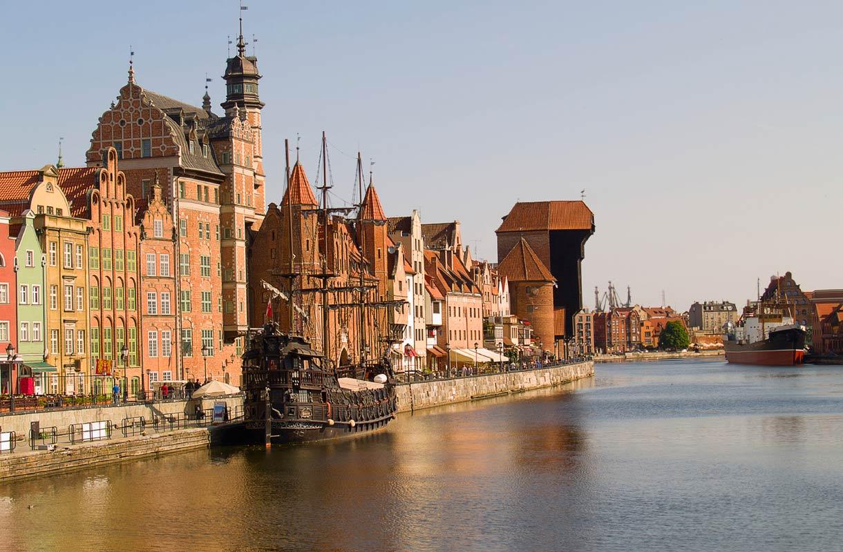 Puolan Vanha Hansakaupunki Katso Kuvat Gdanskista