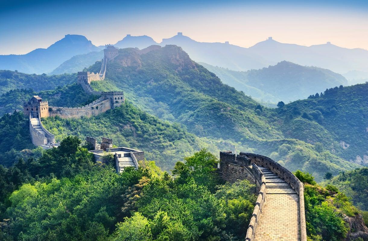 Kiinan muuri, Kiina