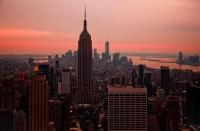 Auringonlasku New Yorkissa