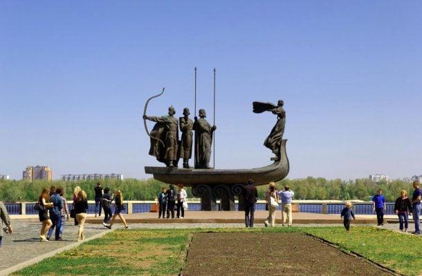Kiovan perustajien muistomerkki