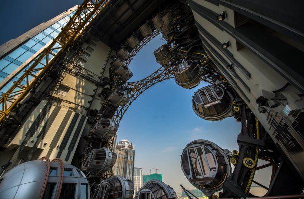 Macaon uuden teemapuiston maailmanpyörä Golden Reel