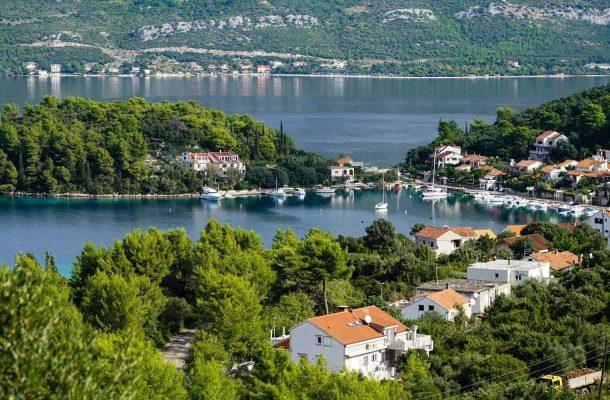 Korculan saari Kroatiassa