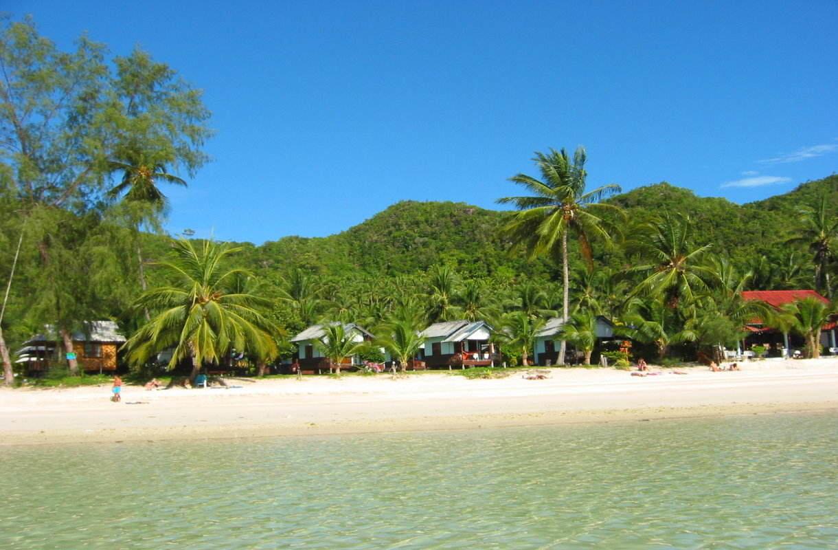 Koh Phanganin saari Siaminlahdella
