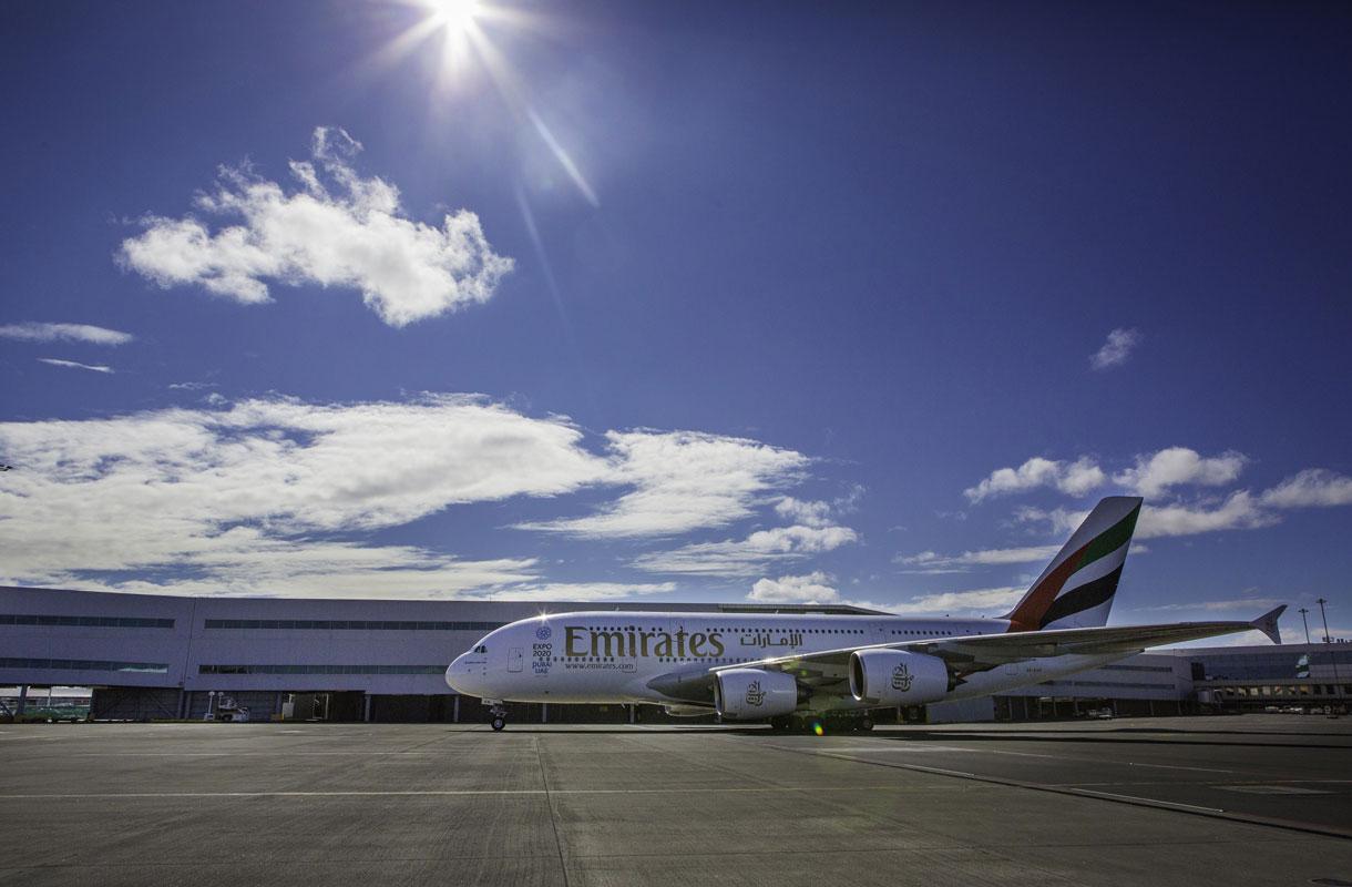 Emirates avasi maailman pisimmän lentoreitin