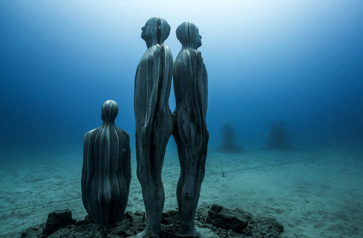 Musei Atlanticon veistokset sijaitsevat 12 metrin syvyydessä