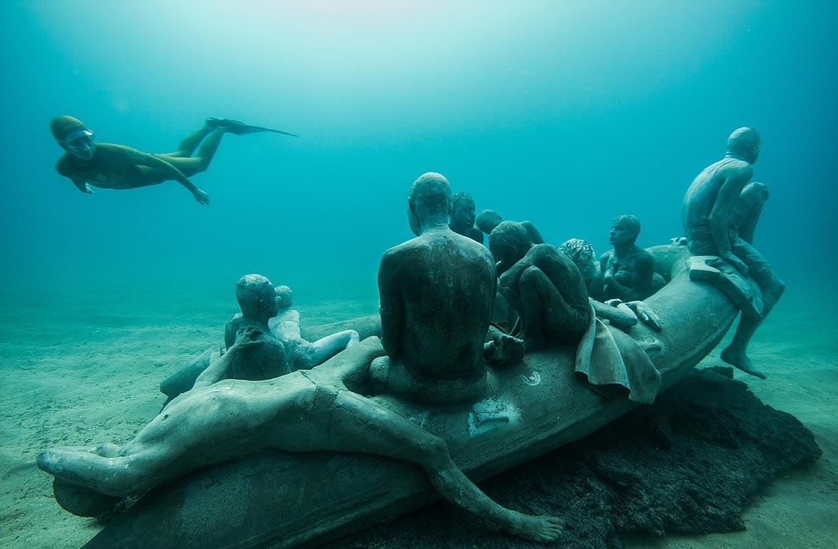 Museo Atlanticon teoksia pääsee ihailemaan sukeltamalla