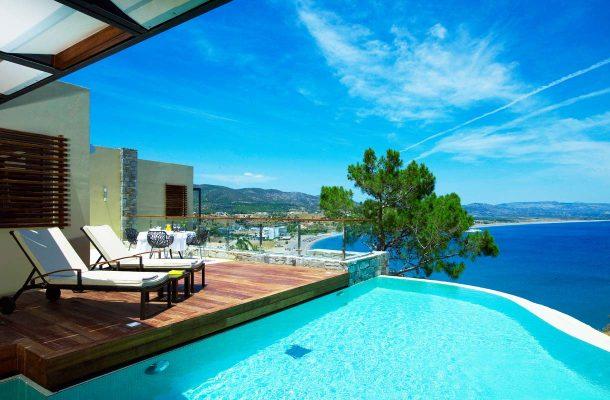 Suosittu hotelli Lindos Blu Hotel & Suites Rodoksella