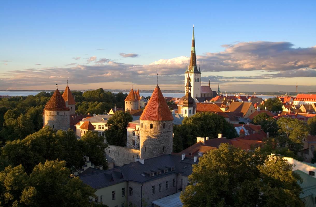Kaupunkimaisema Tallinnassa