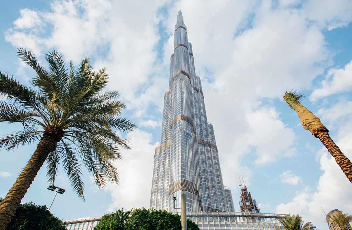 Burj Khalifa on maailman korkein rakennus.