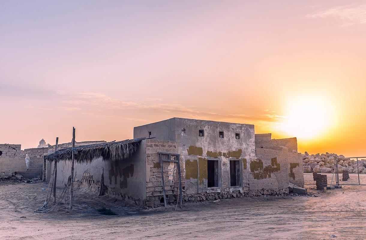 Jazirat al Hamra on hylätty kalastajakylä.