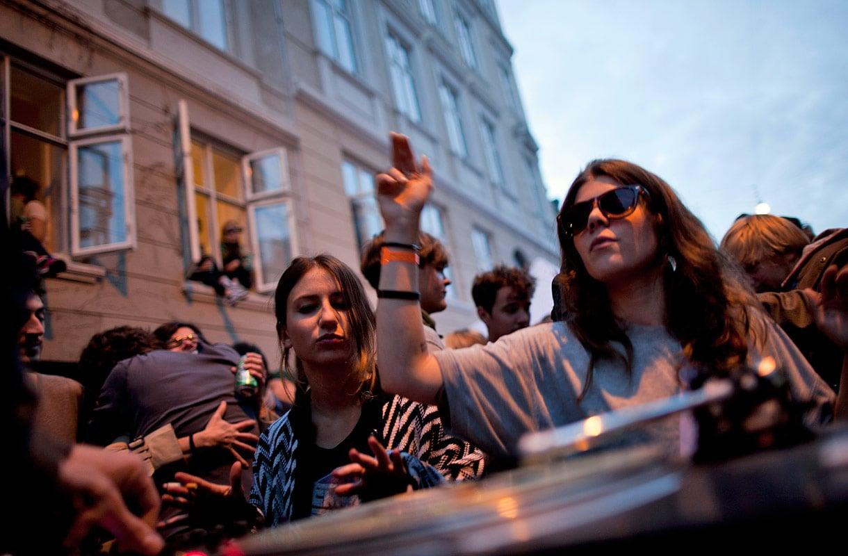 Distortion on suosittu katutapahtuma Kööpenhaminassa