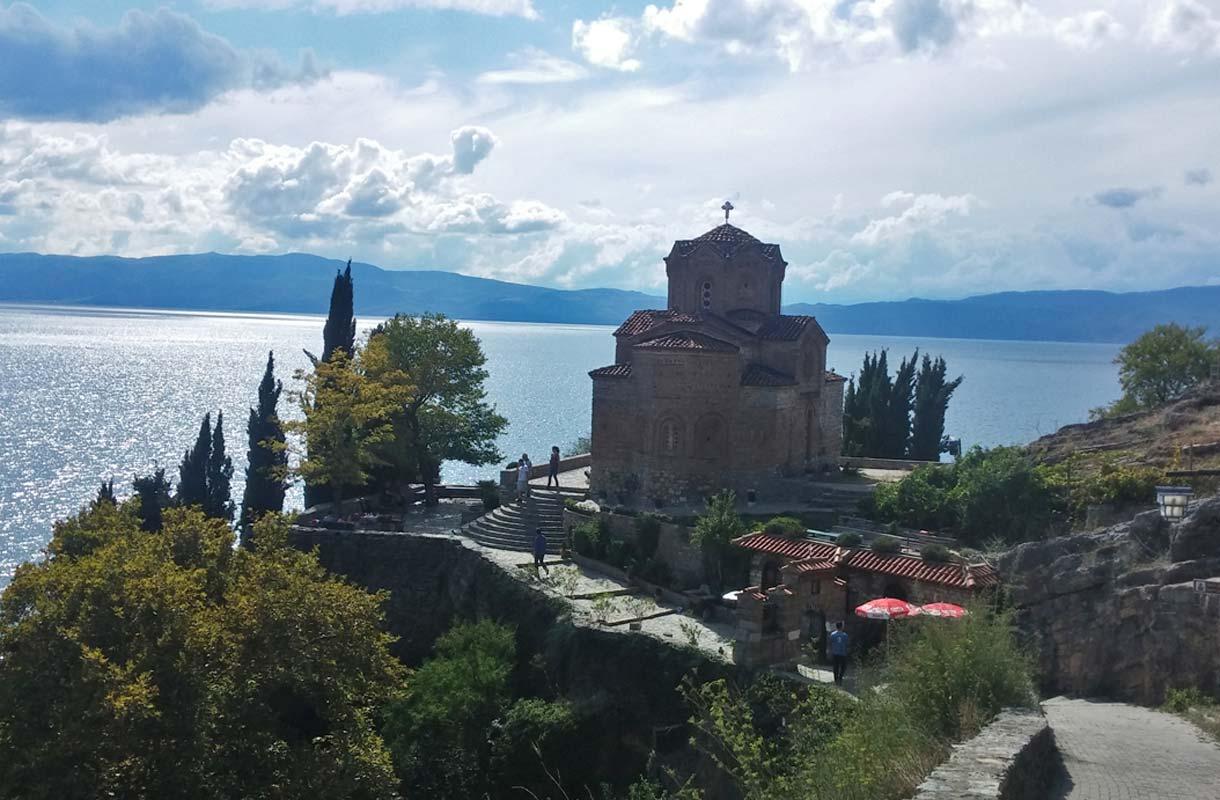 Pyhän Sofian kirkko on Ohridin tunnetuimpia nähtävyyksiä.