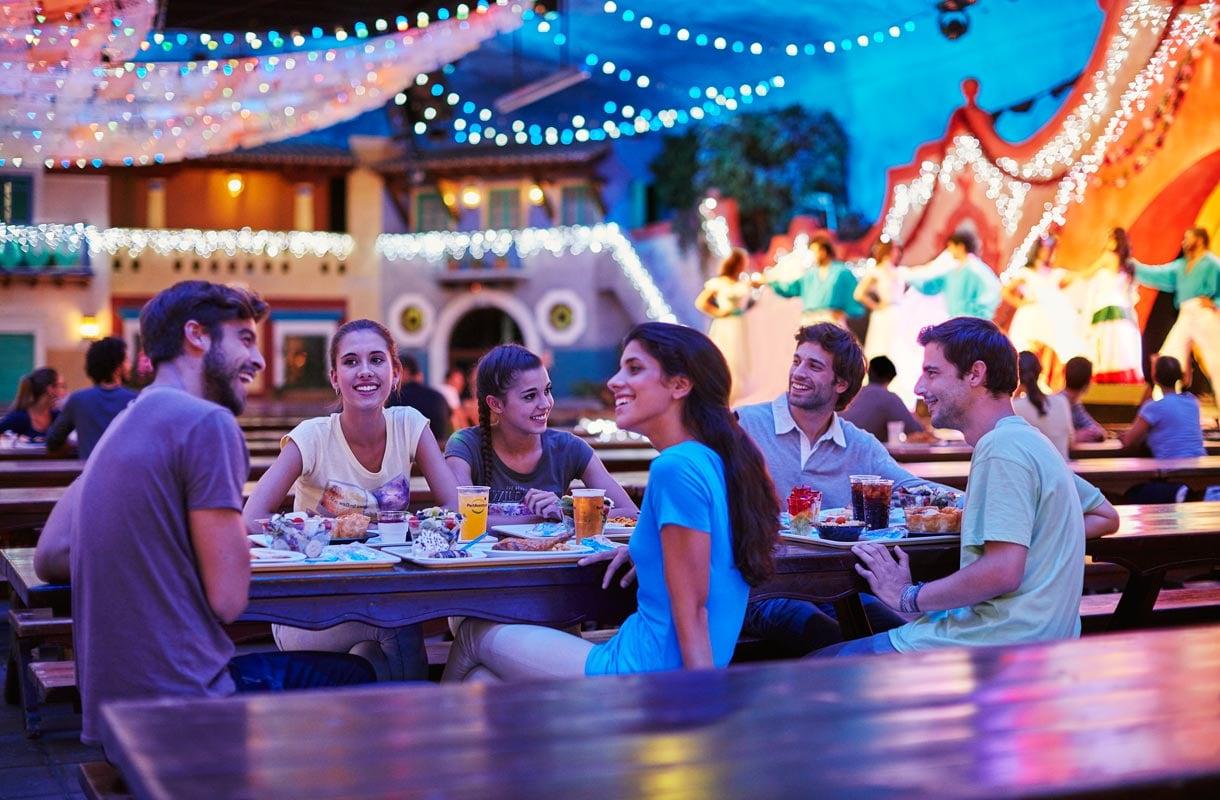 Ravintola huvipuistossa