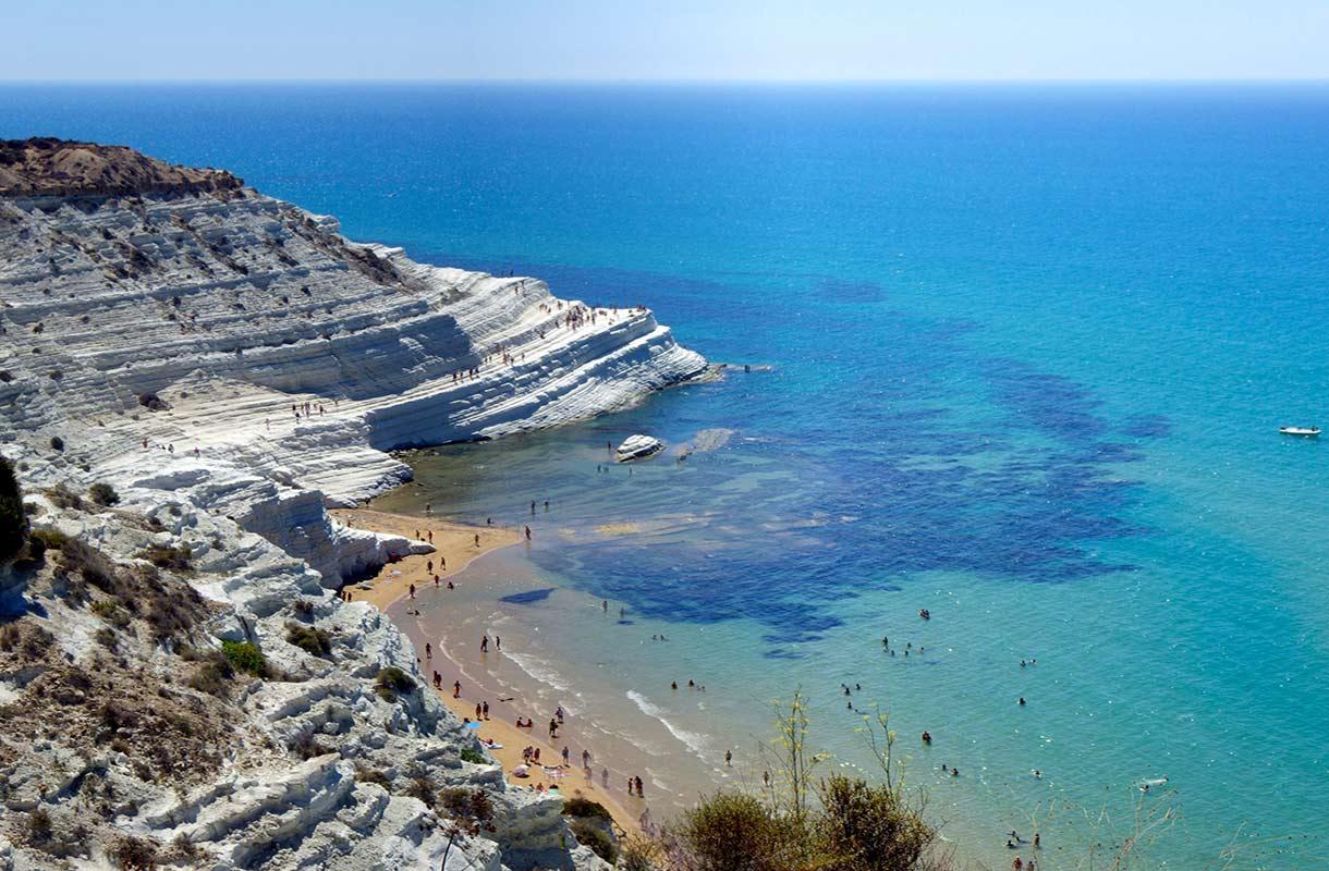Scala dei Turchin ranta Sisiliassa