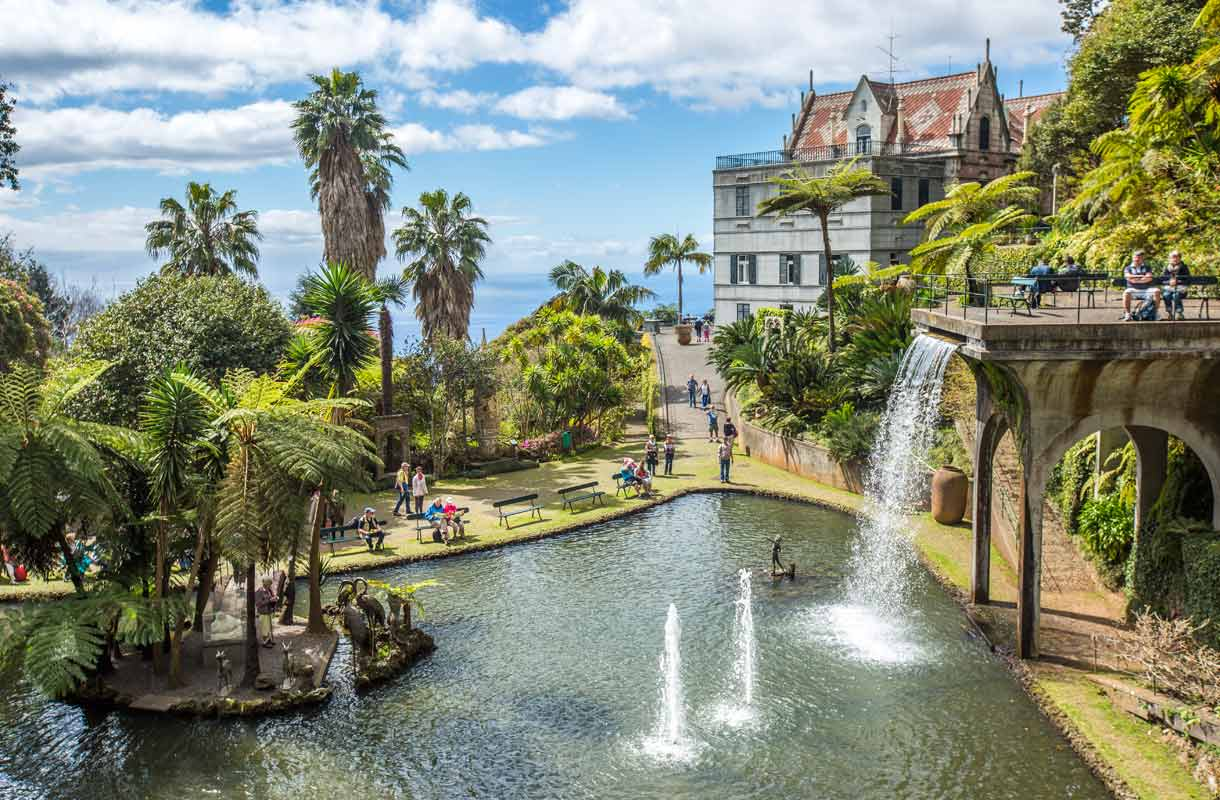Madeiralta löytyy lukuisia upeita puistoja, kuten Monte Palace Tropical Garden