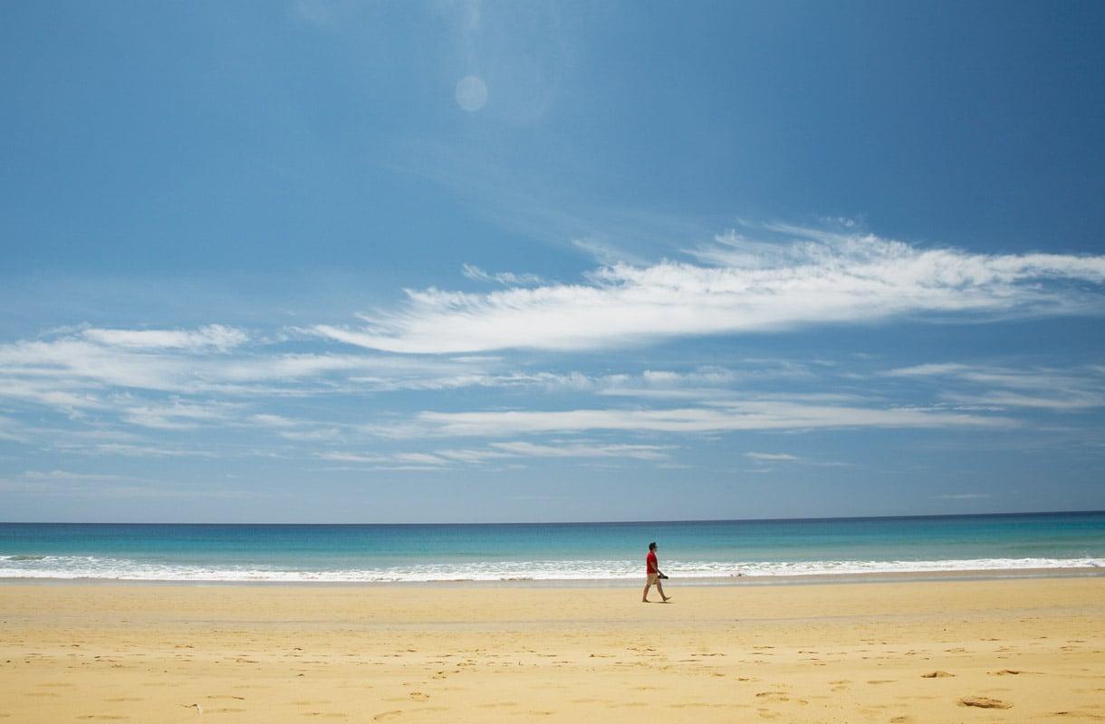 Porto Santo on rauhallinen rantakohde.