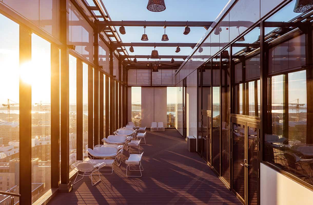 Clarion-hotellin kattoterassi