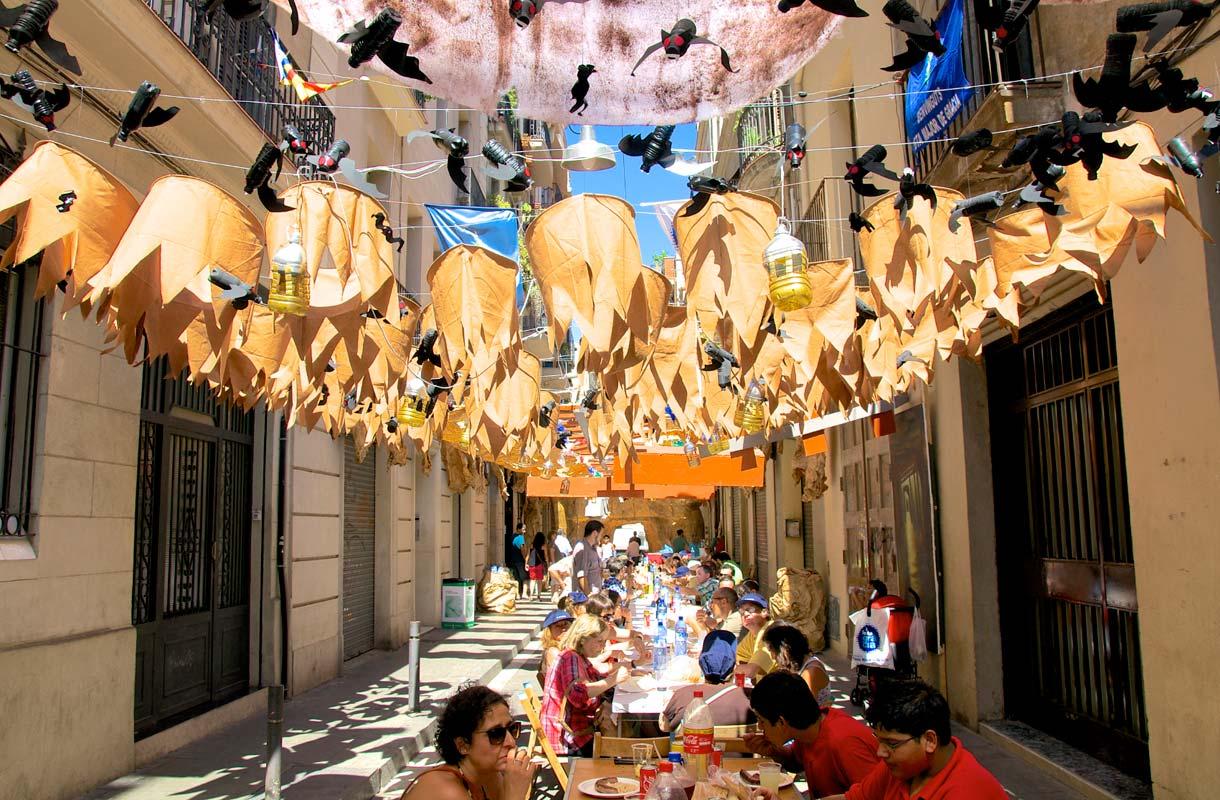 Gracian katujuhlat Barcelonassa