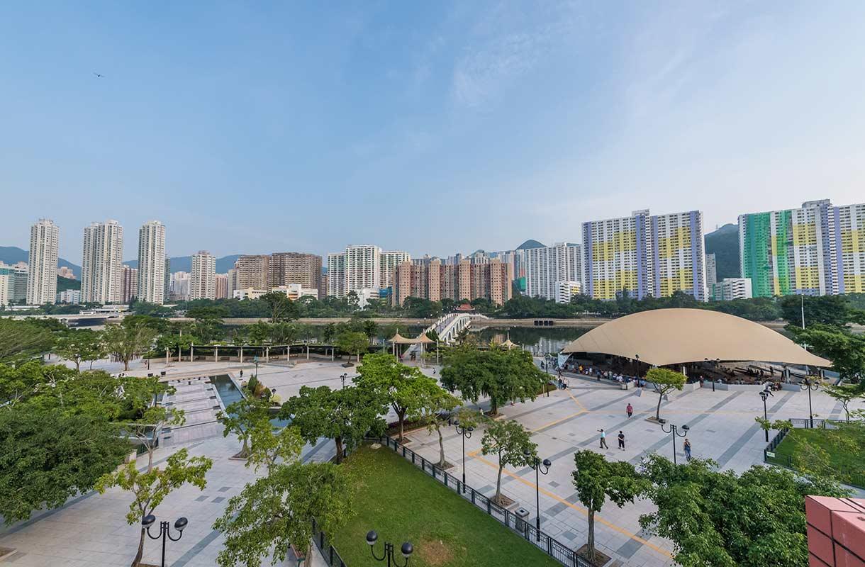 Asuinrakennuksia Hongkongissa