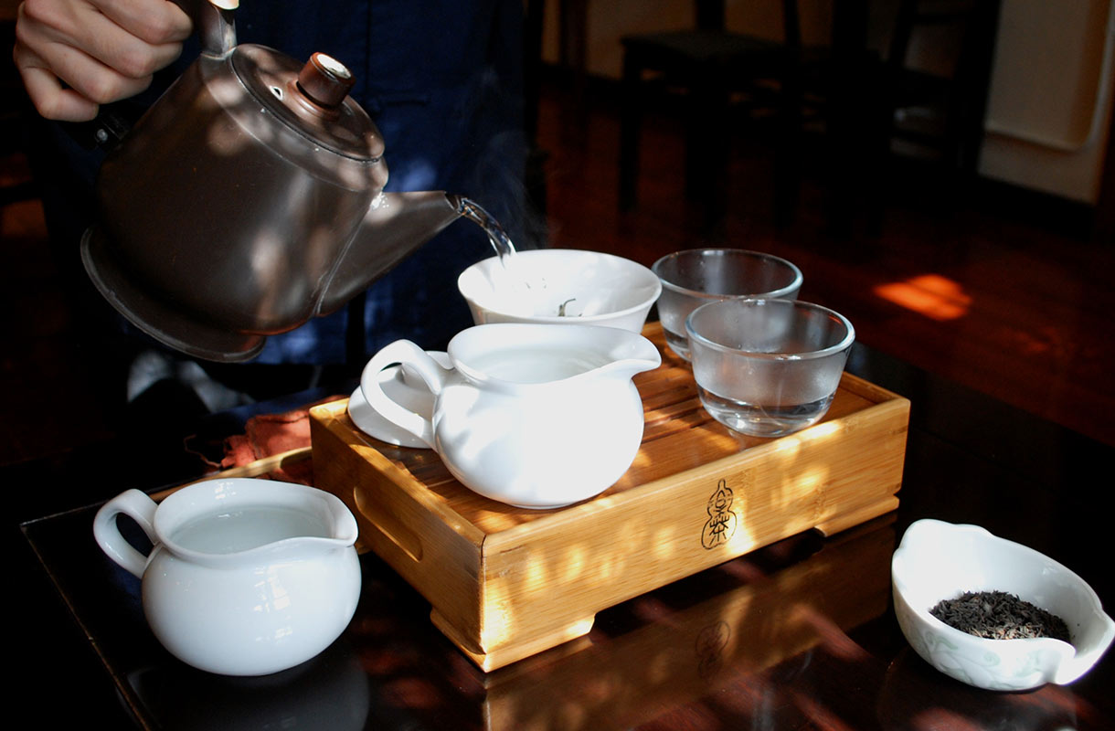 Teetarjoilu Hongkongissa