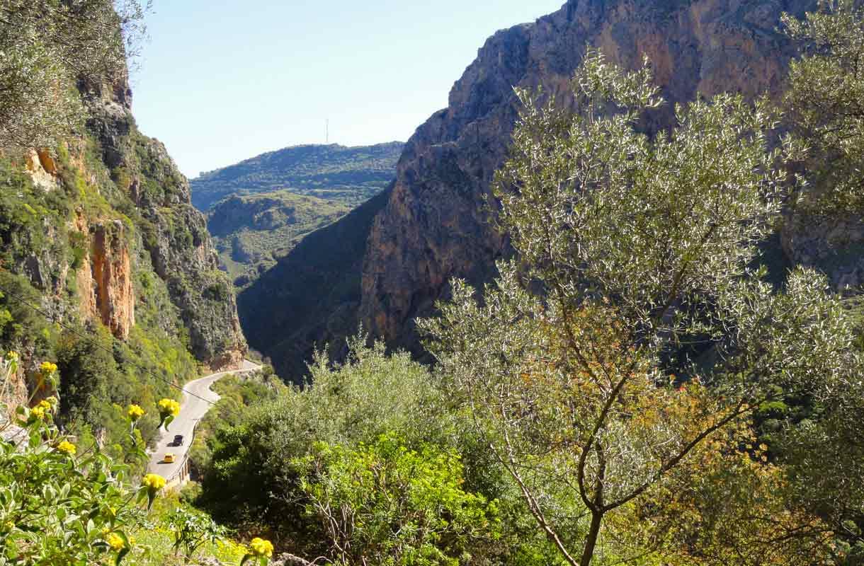 Vuoristoa Kreetalla