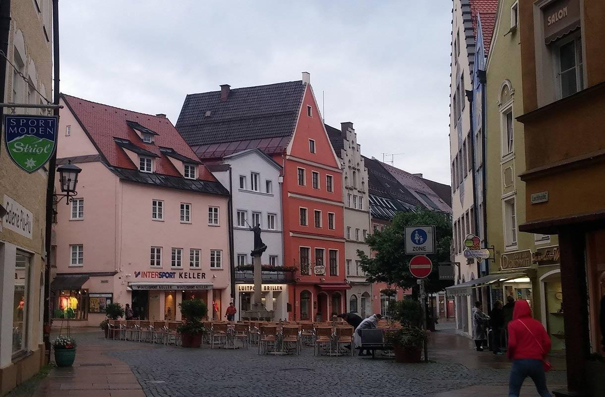 Füssenin kylä Saksassa